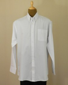 Chemise grande taille oxford blanche - coton et polyester